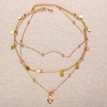 Vintage gold multilayer Necklace Jewelry SR01