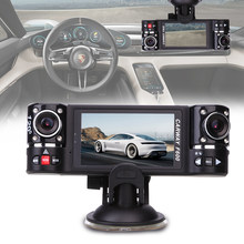 "F600 2.7"" HD 1080P Dual Lens Car Vehicle 180° Rear View Auto Data Recorder(China)"