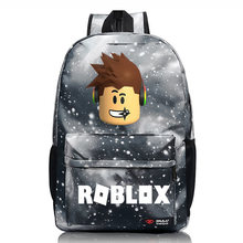 Cartoon Galaxy Roblox Games Letter Boy Girl School Bag Women Bagpack Teenagers Schoolbags Canvas city Men Student Backpacks(China)