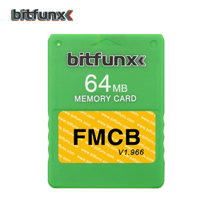 Image 5 - Bitfunx 64メガバイトのメモリカードPS2 fmcb送料mcboot opl保存ゲームPlaystation2レトロビデオゲームコンソール紫、青マルチカラー