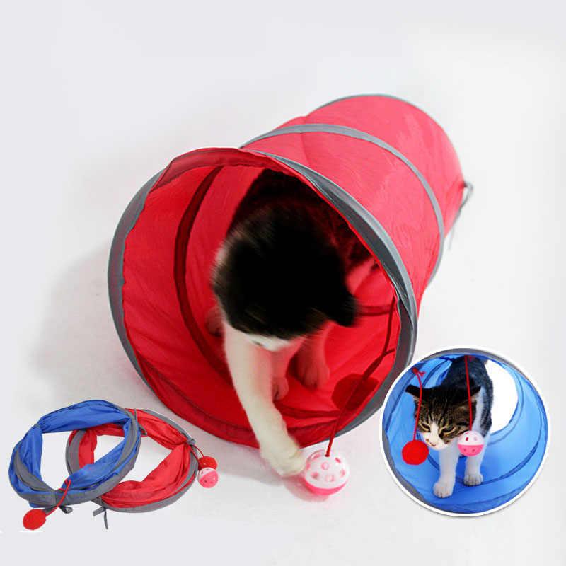 5 farben Kleine Tiere Tunnel und Rohre 25*50cm Kaninchen Frettchen Guinea Schwein Katze Tunnel mit Spaß Glocke faltbare Kleine Haustiere Spielzeug