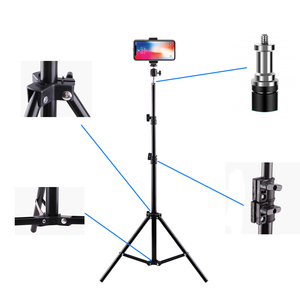Image 5 - Aluminum Tripod With Bluetooth For iphone Gopro Xiaomi Huawei Cell Phone Live Photography Selfie Tripod For Tiktok Vlog Camera