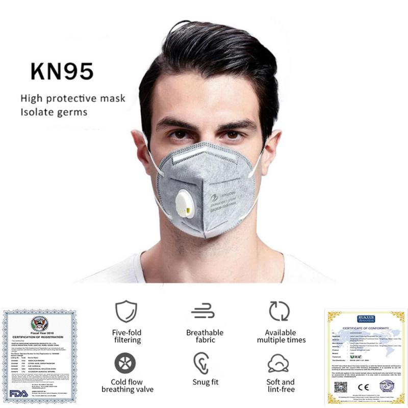 4 Layers Filter Reusable KN95 Mask Valved Face Mask N95 Protection Face Mask FFP1 FFP2 FFP3 Mouth Cover Pm2.5 Dust Masks
