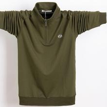 Polo-Shirt Black Long-Sleeve Green Plus-Size Men Casual High-Quality Pure-Color 95%Cotton