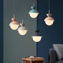 Креативная Подвеска Лампы стеклянный абажур g9 ac220v подвесной