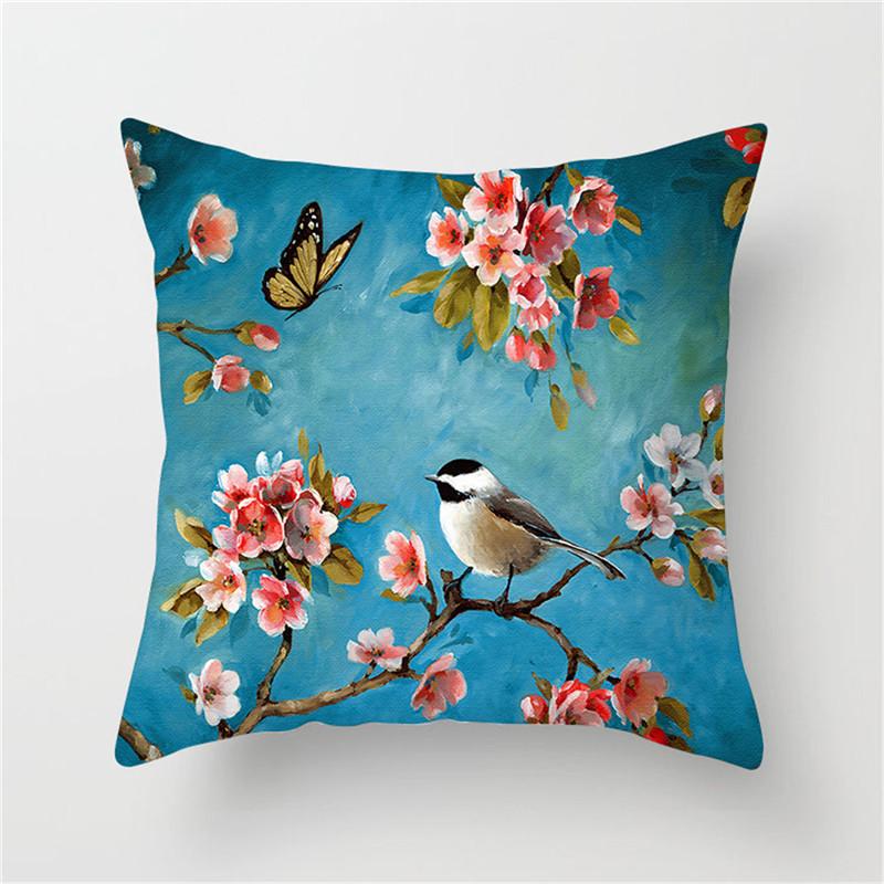 Наволочки nanacoba с цветком сливы чехол фламинго птицами для