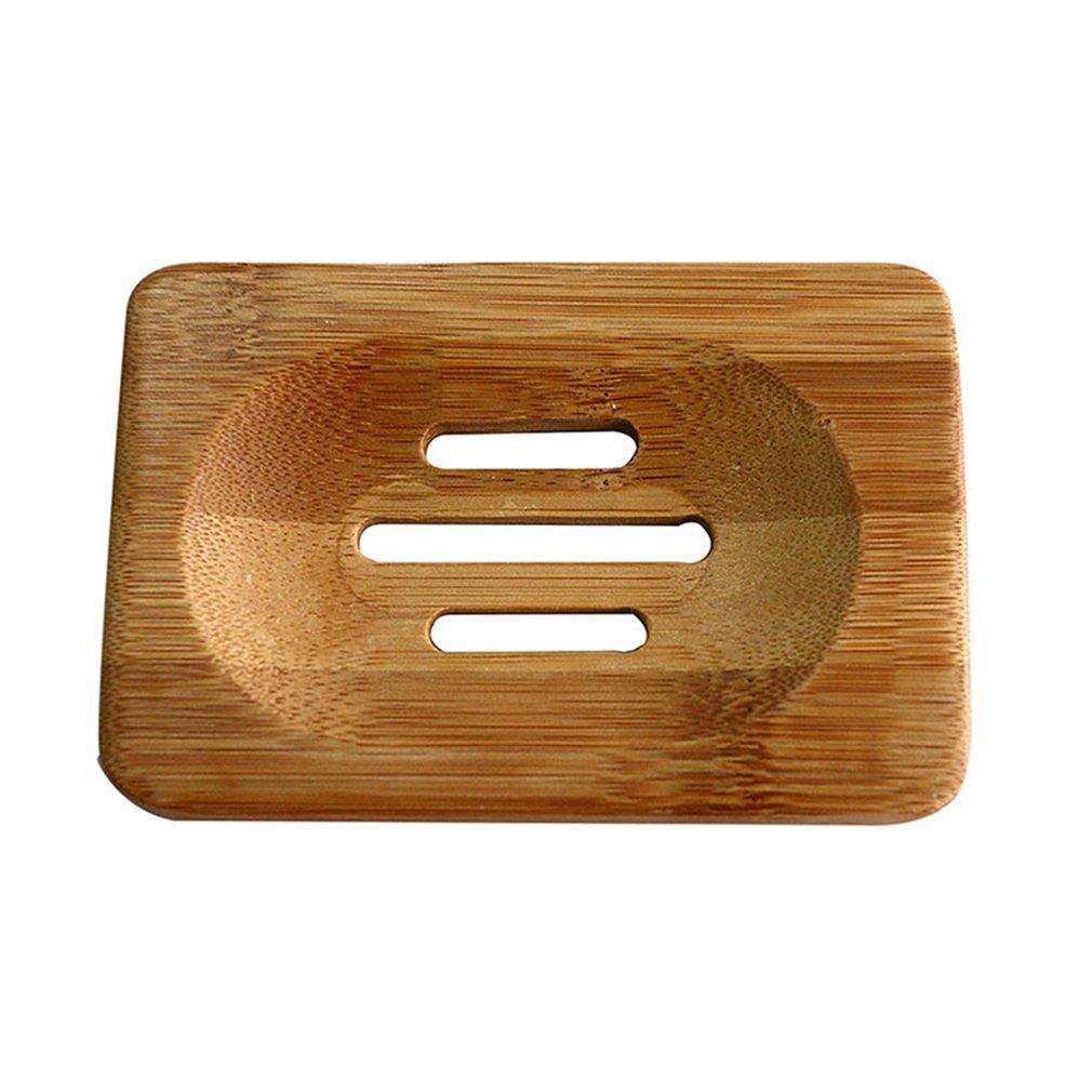 Hot Worldwide Natural Bamboo Wood Soap Dish Storage Holder Bath Shower Plate Bathroom