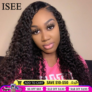 Image 1 - Perruque Lace Frontal wig brésilienne Deep Wave ISEE HAIR