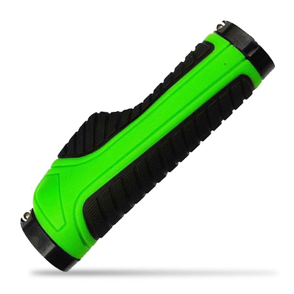 Упоры для рук на руль велосипеда эргономичные рожки руля твердое крепление обоих концевых замков рукоятка руля 2 цвета тон держатель MTB велосипедная опора для рук - Цвет: 1pc Green Black