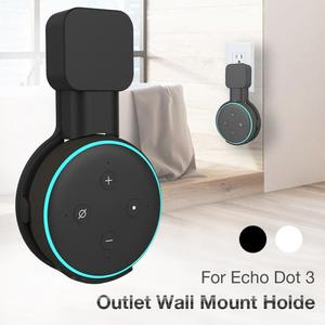 Outlet Wall Mount Hanger Holder Stand Outlet For Amazon Alexa Assistants Echo Dot 3rd Generation Speaker Space Saving Bracket