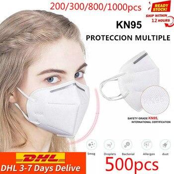 Envío gratuito con dhl 200/500/800/1000 Uds máscara de seguridad respirador máscara protectora KN95Masks boca a prueba de polvo reutilizable