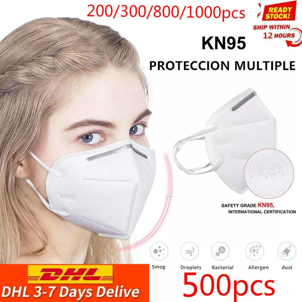 Dhl Free 200/500/800/1000pcs Mask Safety Respirator Protective Mask Face KN95Masks Mouth Dustproof Reuseable