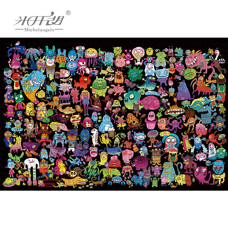 Michelangelo Wooden Jigsaw Puzzle 500 1000 1500 2000 Pieces Monsters Cartoon Animal Kid Educational Toy Wall Painting Home Decor