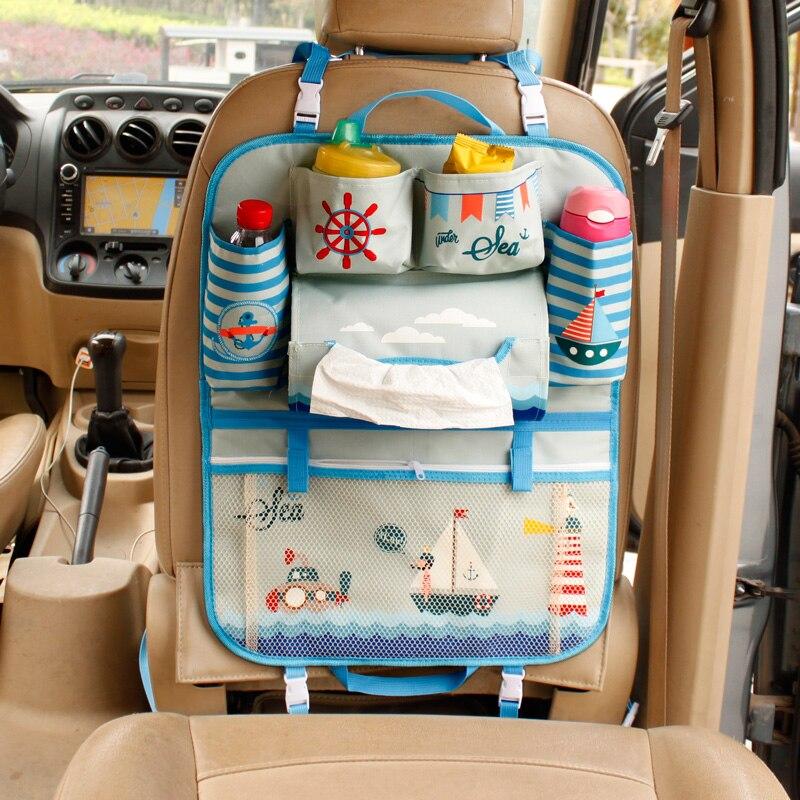 Car Auto Seat Back Cooler Storage Pocket Bag Khaki High Quality Stosto Portable