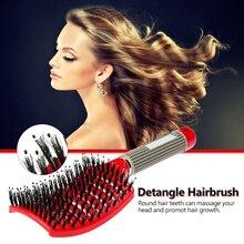 Barber Brush Girl Hair Scalp Massage Comb Female Salon Beauty Salon Styling Tool Wet Curved Tangle Hair Brush