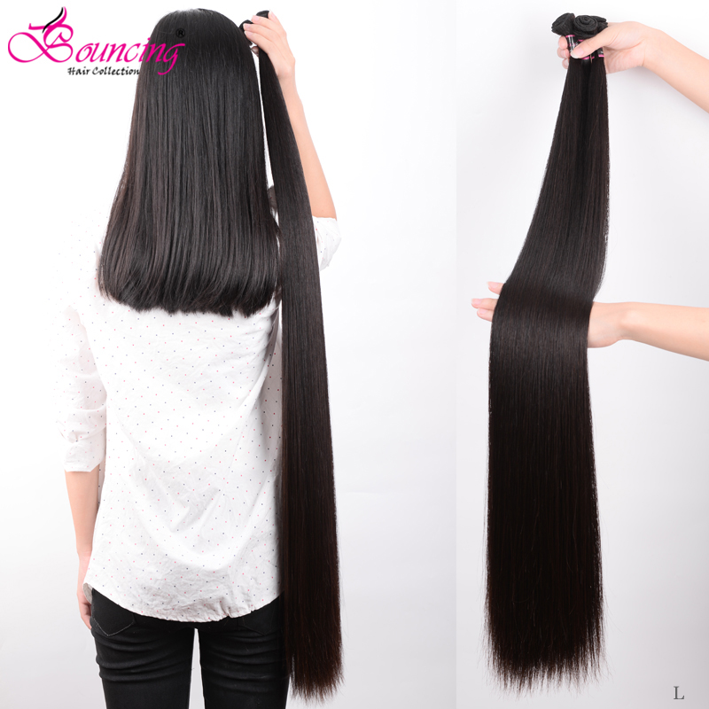 Bouncing Straight Human Hair Bundles Brazilian Hair Weft 34 36 38 40 Inch Bundles Human Remy Hair Natural Black Hair Extensions