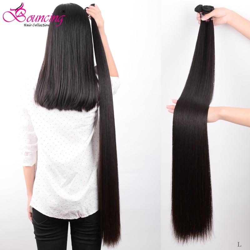 Bouncing Straight Human Hair Bundles Brazilian Hair Weft Bundles Human Hair Weave  Remy Hair Natural Black Hair Extensions