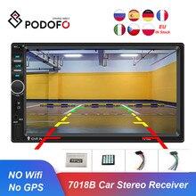 Podofo 2Din Car Radio Bluetooth 7018B Autoradio Multimedia Player for Nissan Hyundai Kia Toyata Chevrolet Ford Suzuki Mitsubishi