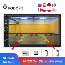 Podofo 2din rádio do carro bluetooth 7018b autoradio multimídia player para nissan hyundai kia toyata chevrolet ford suzuki mitsubishi
