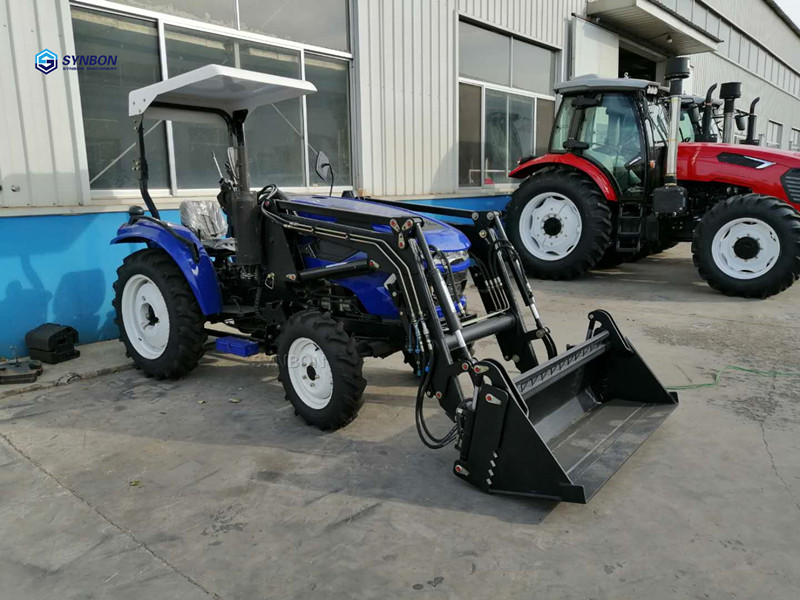 Self-Conscious Mini Farm Tractor With Front Loader Hydraulic Agricultural Machinery 4wd 40hp Synbon