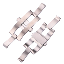 Stainless Steel Buckle For Watch Strap Bracelet 21mm 23mm 25mm Watchband Double Push Deployment Clasp Watch Accessories new 22mm top grade brushed stainless steel watchband bands strap with double push clasp buckle for mens strap bracelet