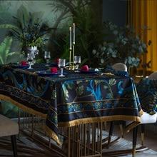 Mantel lujoso Vintage ins europeo rectangular mantel personalizado TV gabinete té Mesa bandera conjunto