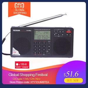 Image 1 - Tecsun PL 398MP راديو محمول 2.2 كامل الفرقة الرقمية ضبط ستيريو FM/AM/SW راديو استقبال مشغل MP3 الإنترنت راديو Fm