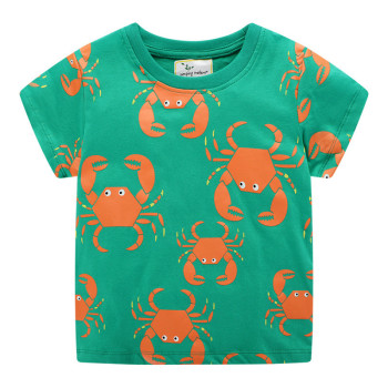Crabs / Tiger / Crocodile Printed Cotton Baby's T-Shirt 1