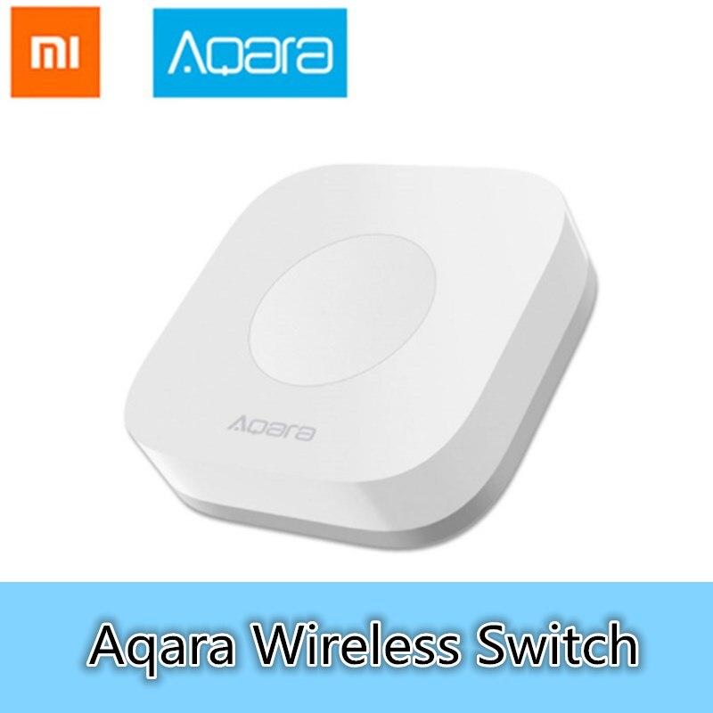 Aqara sem fio mini interruptor inteligente interruptores aplicativo de controle remoto conexão wi-fi para campainha