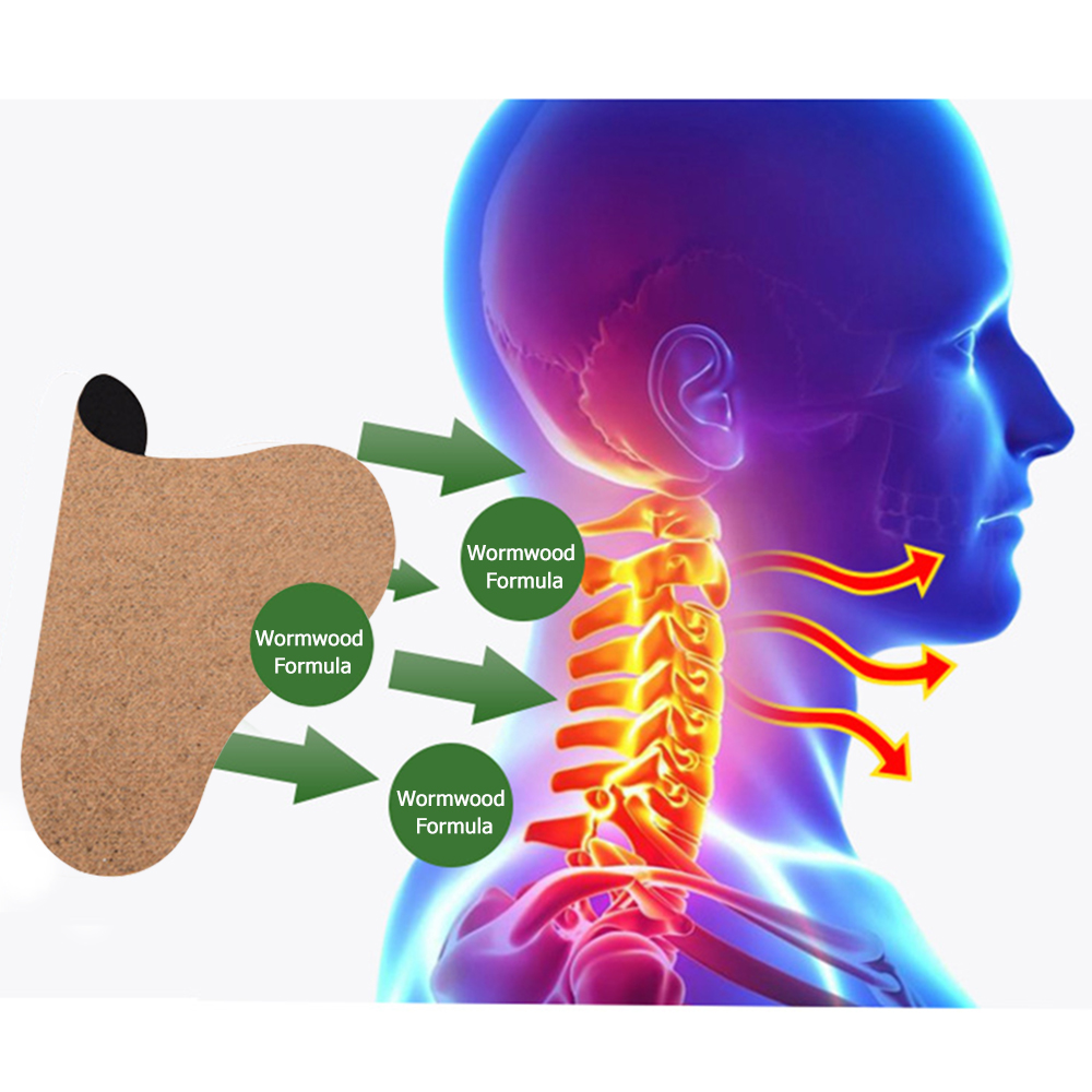 12pcs/box Neck Pain Reliever Self Heating Shoulder Pain Patch Moxa Moxibustion Therapy Joint Ache Relief Warming Pad Sticker