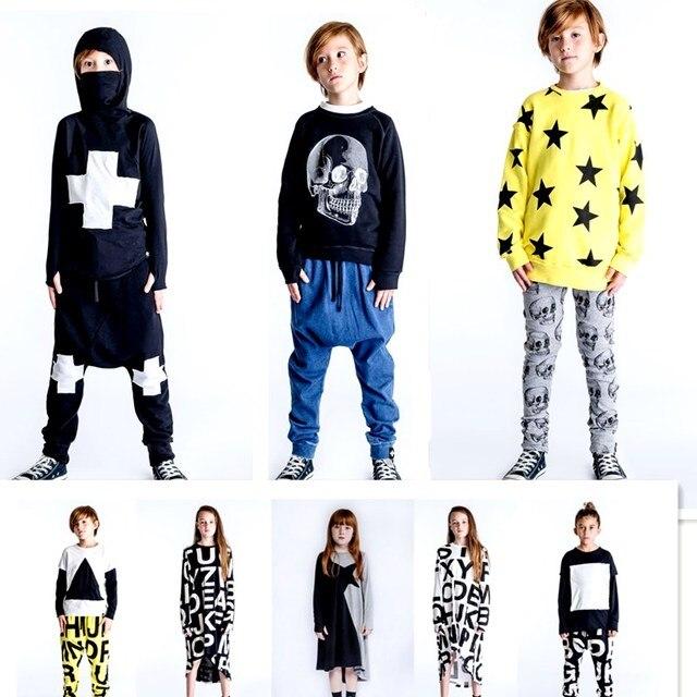 ילדים נים חולצות בנות בגדי שמלות ילדים בגדי סטי משפחה התאמת בגדי חג מולד תלבושות גולגולת נים