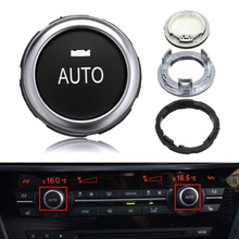 Autos Temperature adjustment Rotation Knob Button Switch For BMW 5-7 Series X5 X6 F10 F01 A/C Car Air Conditioning Knob Switch