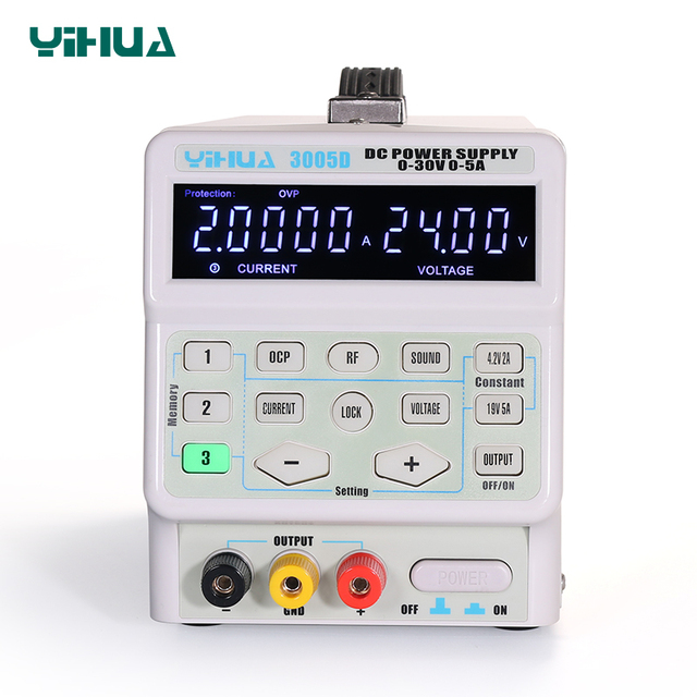 YIHUA 150W 3005D 5A 30V DC Power Supply Adjustable Laboratory Power Supply Digital Program-Controlled  Switching Power Supply