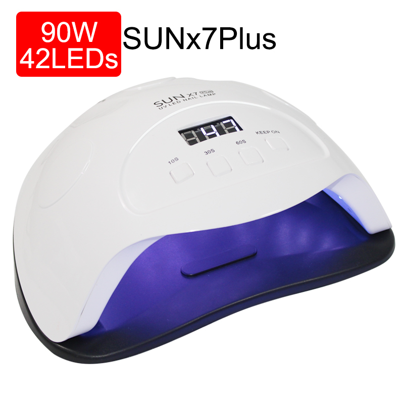 90w Nail Dryer LED Lamp 36PCS LEDs Dual Hands Nail Lamp For Curing UV Gel Nail Polish With 10/30/60s Timer Smart For Manicure