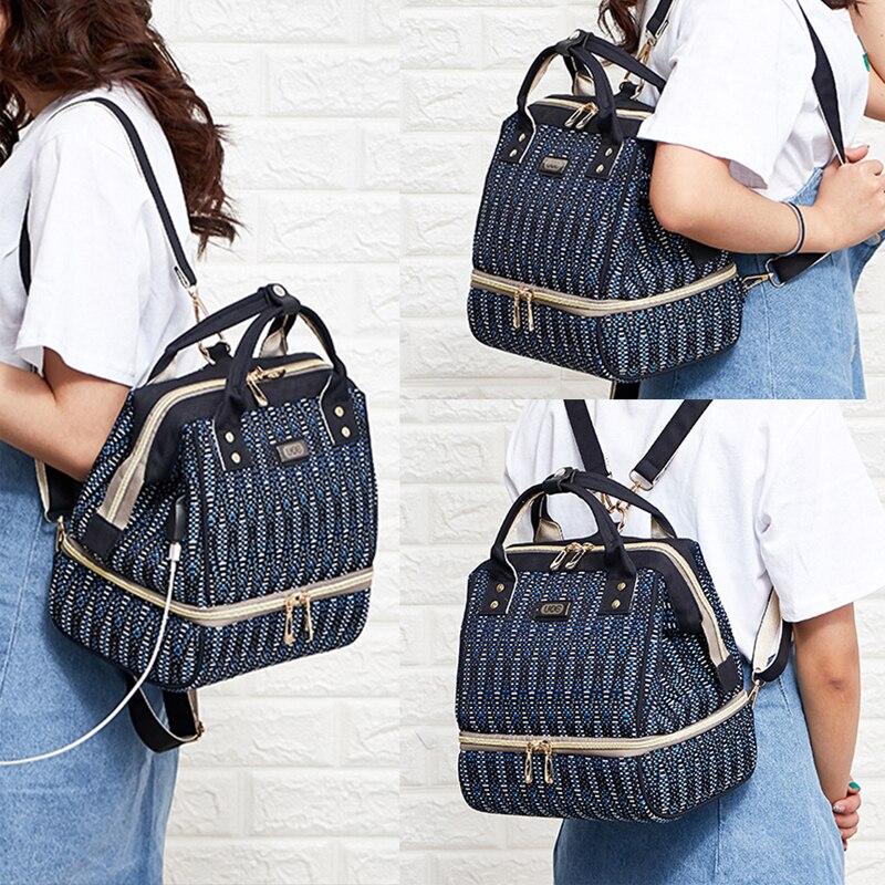 H47ea9d9407fe432d87ffbd231883542as Diaper Bag Backpack For Moms Waterproof Large Capacity Stroller Diaper Organizer Unicorn Maternity Bags Nappy Changing Baby Bag