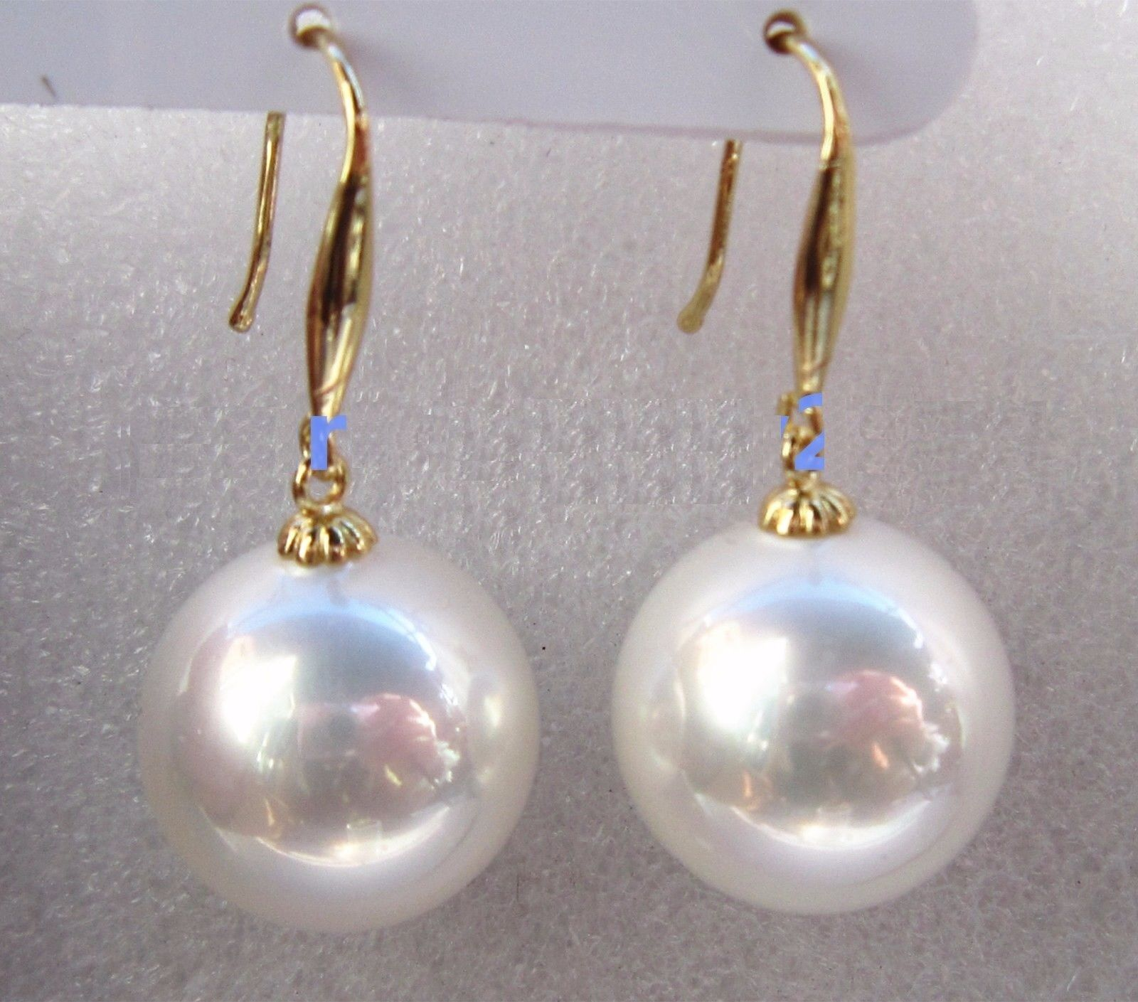 Huge AAA  16mm Natural South Sea White Perfect Round Shell Pearl Pendant 14k