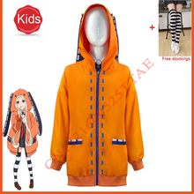 Crianças anime kakegurui jogador compulsivo rune yomozuki cosplay traje runa hoodie com capuz jabami yumeko uniforme meninas meninos jaqueta casaco
