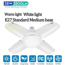 Foldable LED Garage Lights 38W E27 Deformable Led Garage Lights 3800LM Led Garage Ceiling Lights Industrial Lighting Bulb cheap oobest CN(Origin) None Aluminum 85-265V LED Bulbs Warm light White light ---- LEDs Premium Aluminum and PC 6 5*6 5*9 7cm