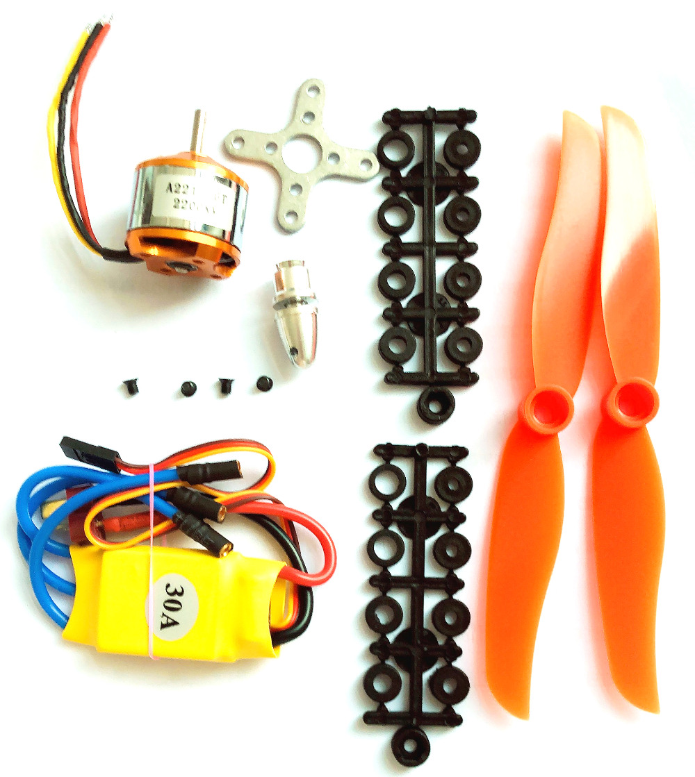 Original A2212 2200KV Brushless Motor 30A ESC Motor <font><b>6035</b></font> <font><b>Propeller</b></font> SG90 9G Micro Servo for RC Fixed Wing Plane Helicopter image