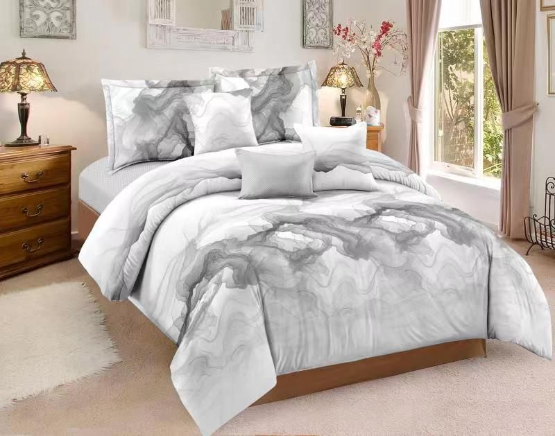 Lnk Style Luxury Bedding Set Abstract Art Duvet Cover Set Queen/Full/King Size Comforter Sets With Pillowcase
