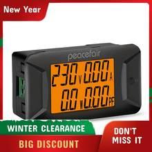 Peacefair PZEM-028 ac 40-400v 100a multímetro digital tensão medidor de potência atual instrumento elétrico medidor de fator de potência