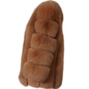 Image 2 - Futro damskie płaszcz z prawdziwego futra futro naturalne
