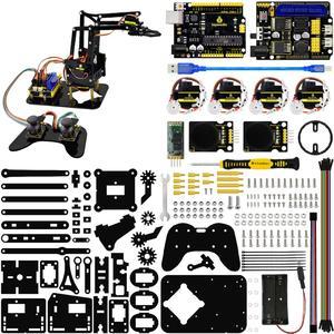 Image 2 - Keyestudio 4DOF acrylique jouets Robot mécanique bras griffe Kit pour Arduino Robot à monter soi même