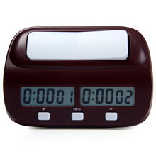 Professional Chess Clock Compact Digital Watch Count Up Down Timer Board Game Stopwatch Bonus Competition Hour Meter