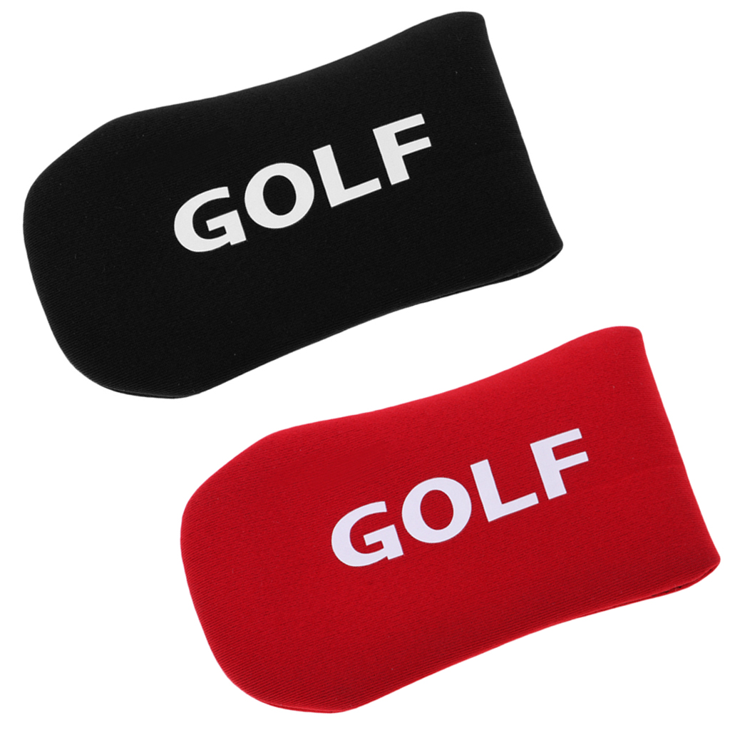 2 Count Golf Putter Cover Headcover Irons Protective Cover Sleeve 12x6.5cm