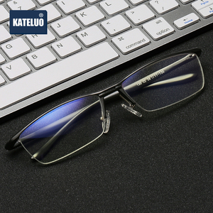 Image 2 - KATELUO 2020 Aluminum Computer Goggles Anti Blue light Fatigue Radiation resistant Mens Glasses Optical Eyeglasses Frame 130