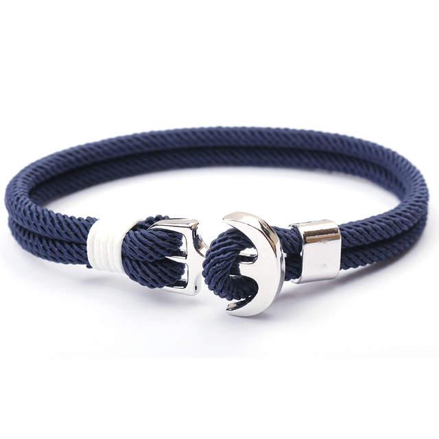 Men Charm Chain 550 Paracord Bracelet