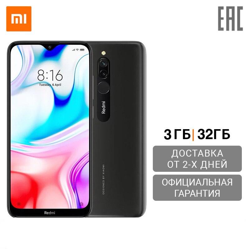 Смартфон Xiaomi Redmi 8 RU 3+32 ГБ,Чехол в комплекте,[Ростест, Доставка от 2 дней, Официальная гарантия] Смартфоны и мобильные телефоны      АлиЭкспресс