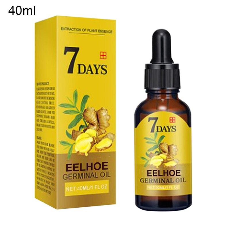Эффективное средство против выпадения волос, 10/15/20/40 мл, кондиционер, натуральная растительная сыворотка с имбирем, масло для быстрого роста...