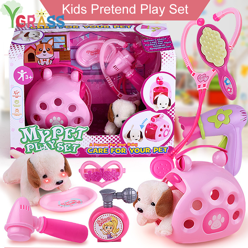 Baby Miniature Girls Toys Makeup Pretend Play Pet DollHouse Accessory Games Kids Children Educational Toy